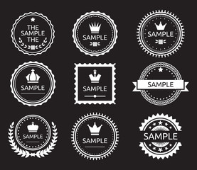 Vintage label badge set