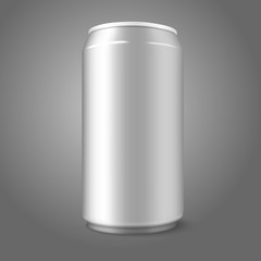 Blank vector aluminium can, for different designs of beer, lager