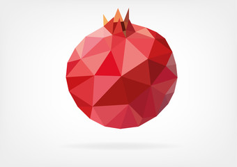 Low Poly Pomegranate