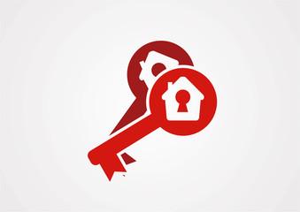 Home keys ogo vector