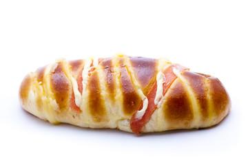 Ham sausage bread