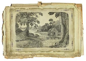 Old village illustration