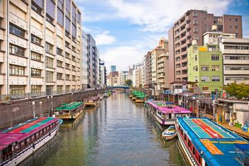 Kandagawa river in Nihombashi district. Tokyo, Japan.