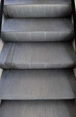escalator in modern office building