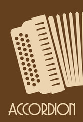 accordion retro poster