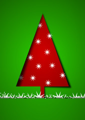 Red and green christmas illustration