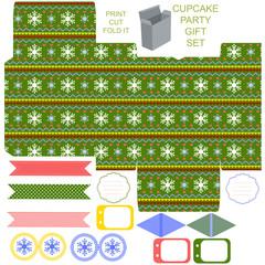 Christmas Gift box template