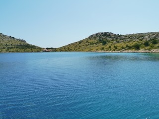 Islands in the Kornati nationalpark in Croatia