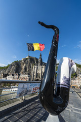 Bridge across the river Meuse in Dinant, Belgium.