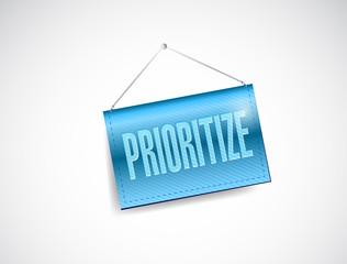 prioritize hanging banner illustration