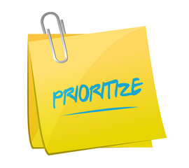 prioritize post memo illustration