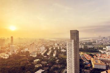 panoramic cityscape of bangkok,thailand