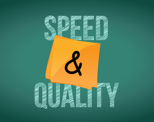 speed and quality illustration design