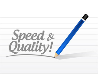 speed and quality message illustration