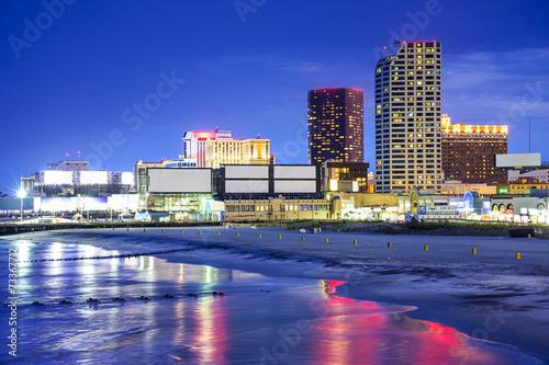 Atlantic City, New Jersey Cityscape Poster