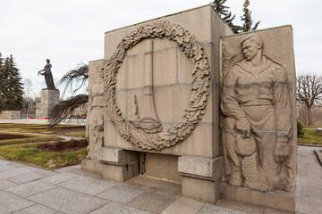 Барельеф. Пискарёвское кладбище. Санкт-Петербург