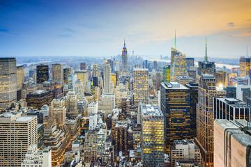 New York City Midtown Mnhattan Aerial View