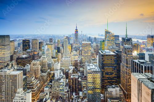 Naklejka New York City Midtown Mnhattan Aerial View