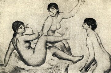 Large Bathers Study (Renoir, 1884-1887, Orsay Museum)