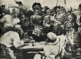 Reply of the Zaporozhian Cossacks (Repin, 1891)