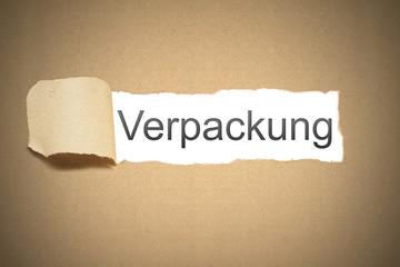 Braunes Papier aufgerissen Riss Verpackung