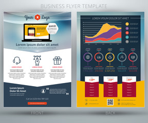 Vector business flyer template