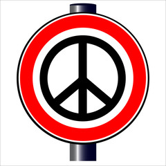 Ban the Bomb Road Sign
