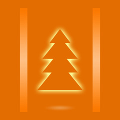 Christmas design with xmas tree