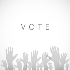illustration of hand with voting sign of vector