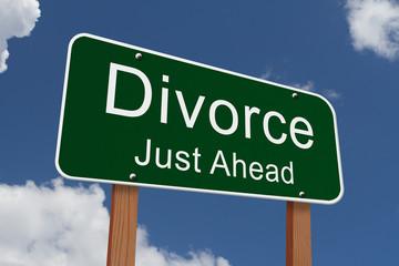 Divorce Just Ahead Sign