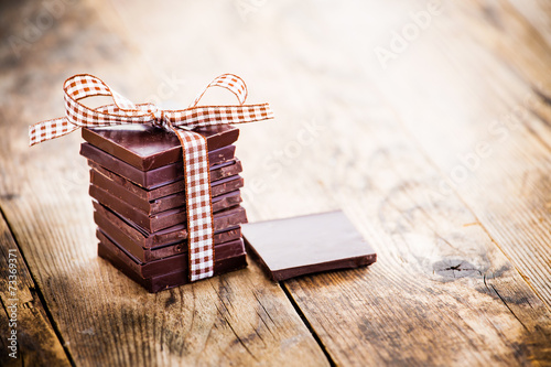 Fototapeta Delicious chocolate gifts, hand made.
