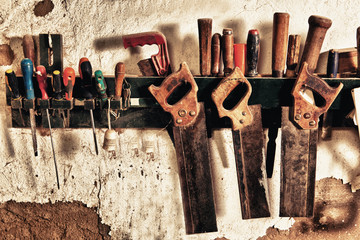 Old hand saws
