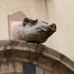 Statue de cochon