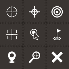 Vector black target icon set