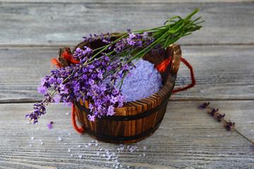 Scented salt with lavender