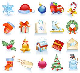 Set of Christmas symbols.