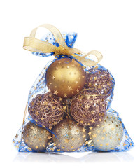 Christmas bag with baubles
