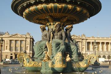 Rivers fountain in place de la Concorde Paris