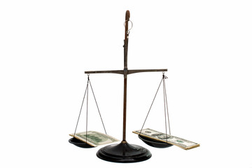 dollars on the scales