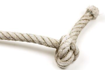 noeud marin en terminaison de cordage