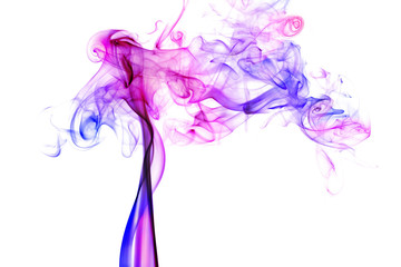 colorful smoke on white background