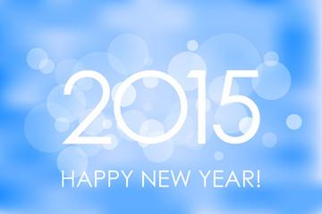 Happy New Year 2015 winter background