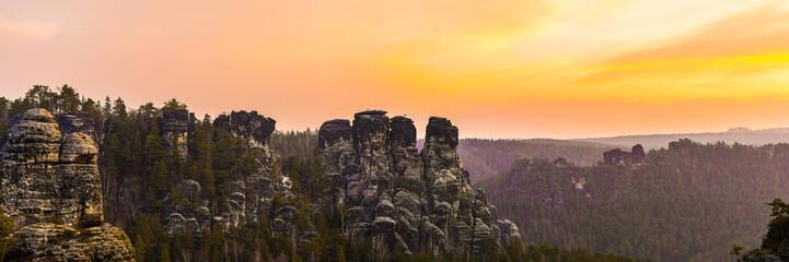 Panorama der Bastein, Sächsische Schweiz in Deutschland
