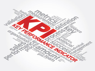 Key Performance Indicators word collage, KPI Business Concept