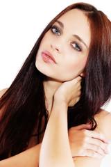 Perfekte Schönheit mit glänzenden Haar