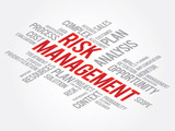 Risk Management Shows Identifying, Evaluating And Treating Risks poster