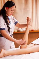 Legs massage.