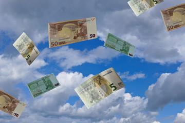 Geldscheine im Sturm