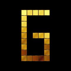 Vector illustration of shiny gold letter - G