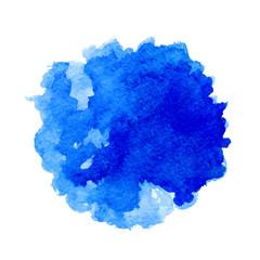 Watercolor vector blue spot